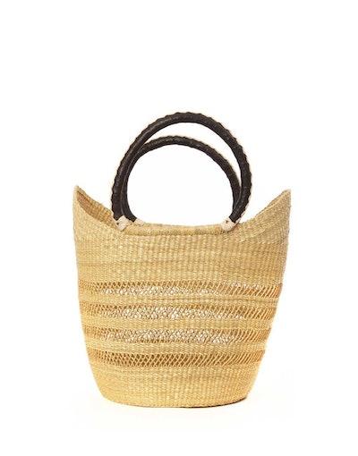 Open Weave Bohemian Market Basket