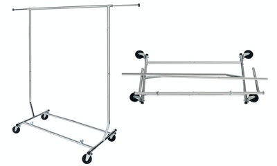 Need A Rack, Collapsible Commercial-Grade Clothing Rack