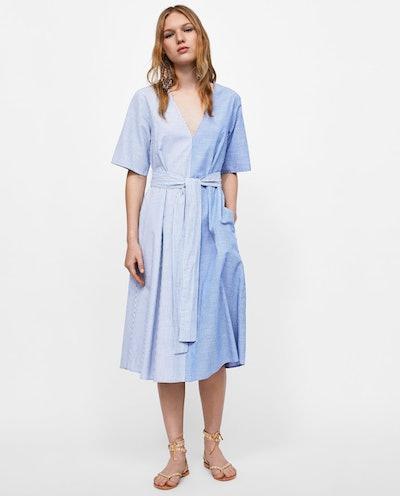 Striped Patchwork Dress