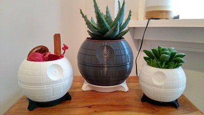 Death Star Plant Pot