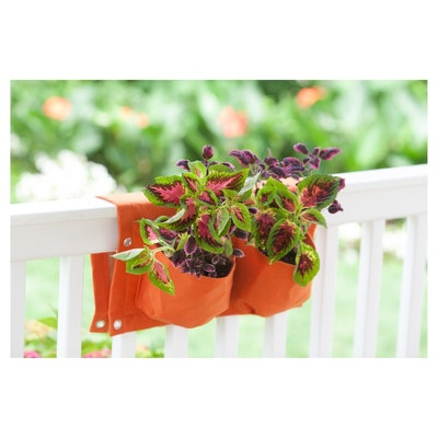 Rectangular Deck Rail 4-pocket Hanging Planter Bag
