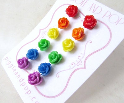 Rainbow Pride Earring Set