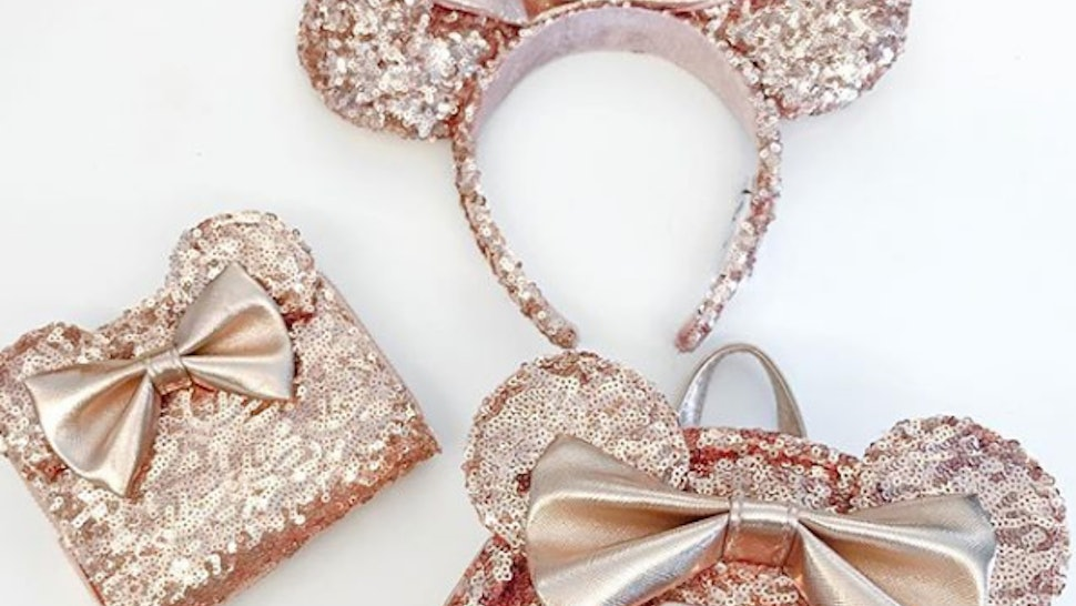 35fab7c1c0f Where To Buy The Minnie Mouse Rose Gold Sequin Bags Because Basic Never  Looked So Good