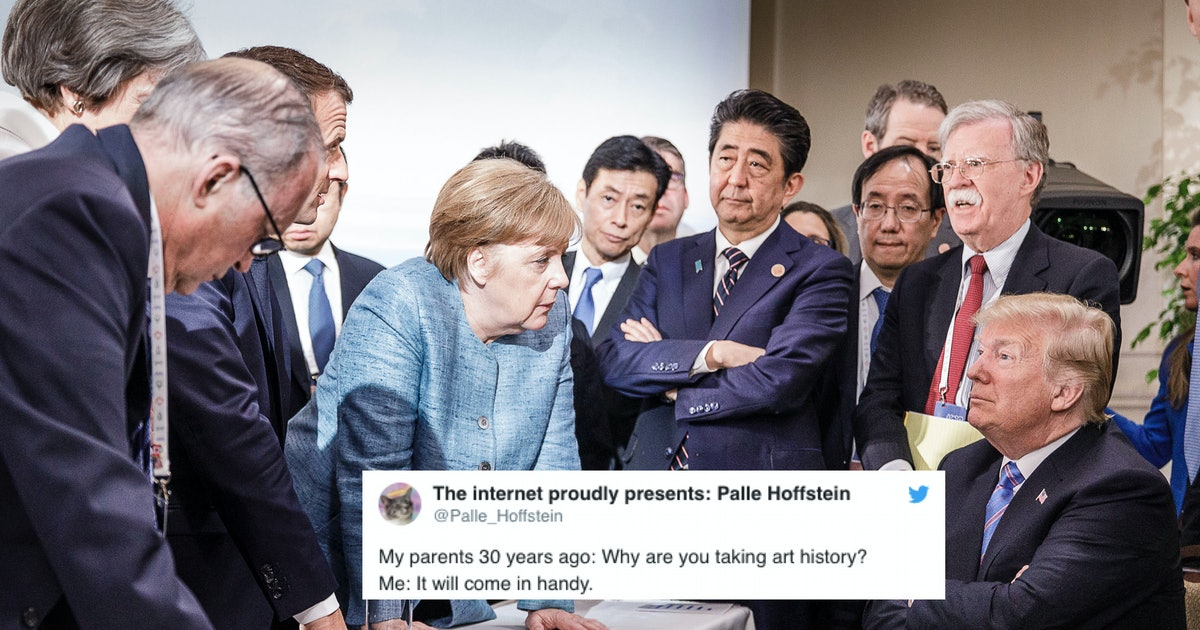 That Trump G7 Photo With Angela Merkel Was Analyzed In This Viral Twitter Thread & Honestly You'll Learn A Lot