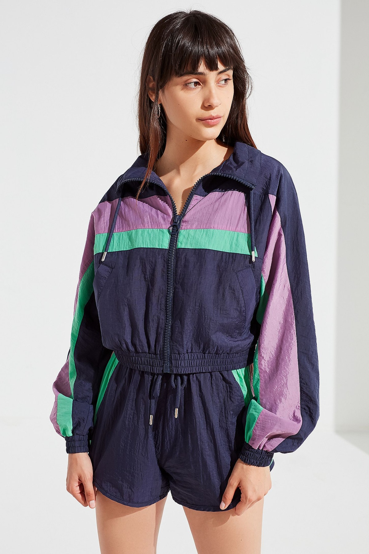 UO Colorblock Windbreaker Jacket
