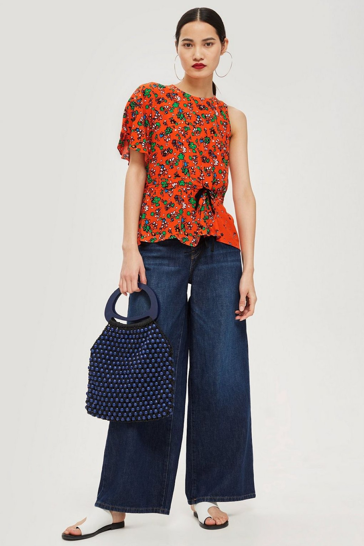 Floral Print Ruched Top