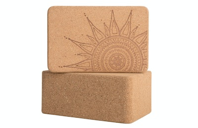 Peace Yoga Cork Wood Blocks