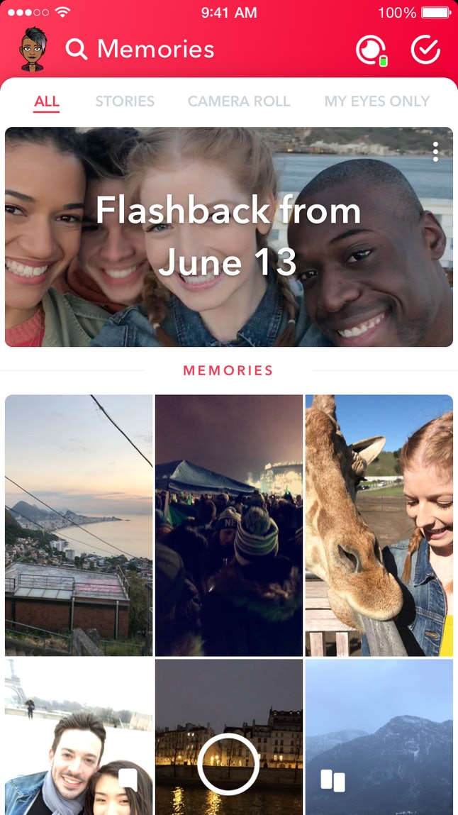 You might not have Flashback Stories on Snapchat yet because the updates come out on a rolling basis.