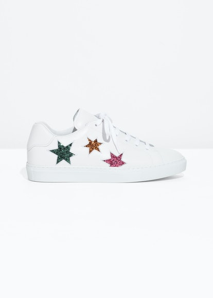 Star Lace-Up Sneakers
