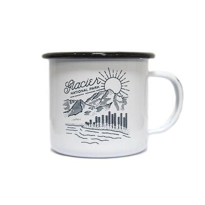 Glacier Vista Enamel Mug