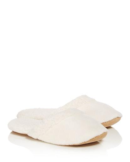 Natori Faux Fur Slippers