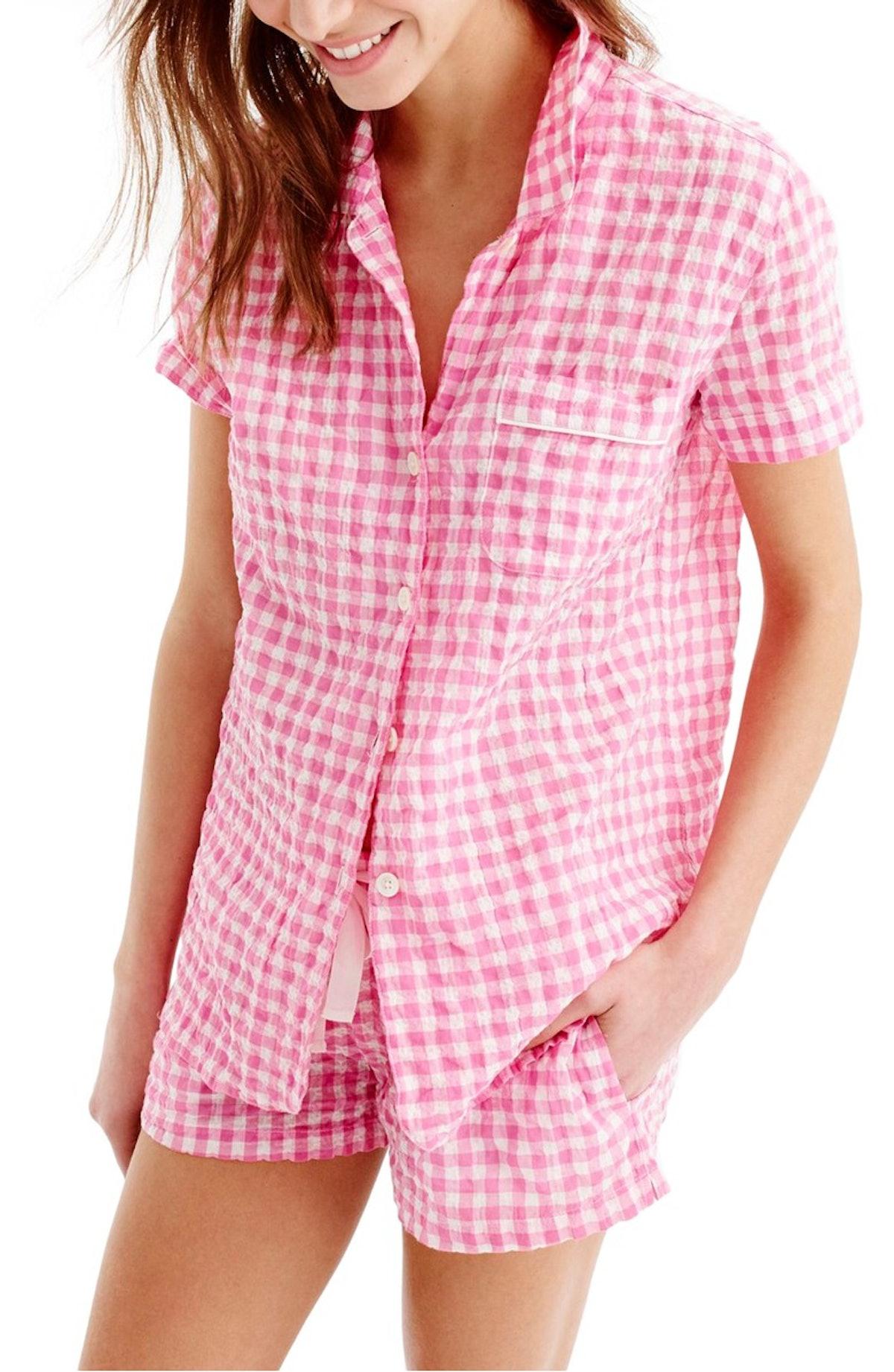 J.Crew Gingham Pajama Set