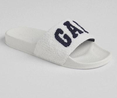 Logo Fuzzy Slide Sandals
