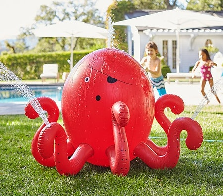 Red Octopus Inflatable Sprinkler