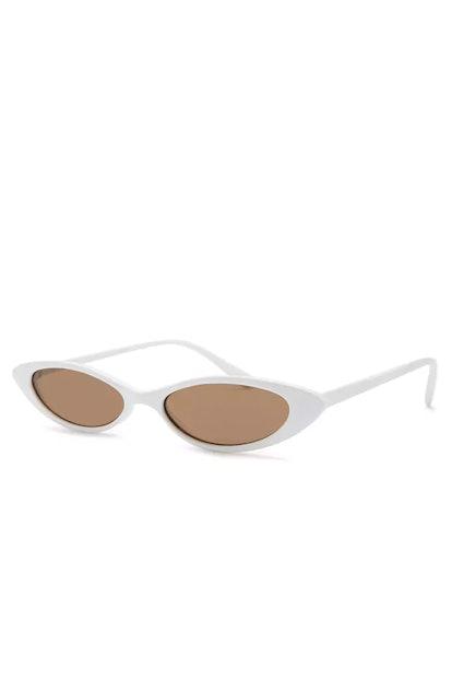 Skinny Cat-Eye Sunglasses