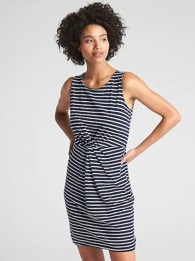 Sleeveless Twist-Front Dress
