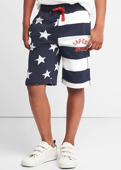 Stars & Stripes Logo Pull-On Shorts