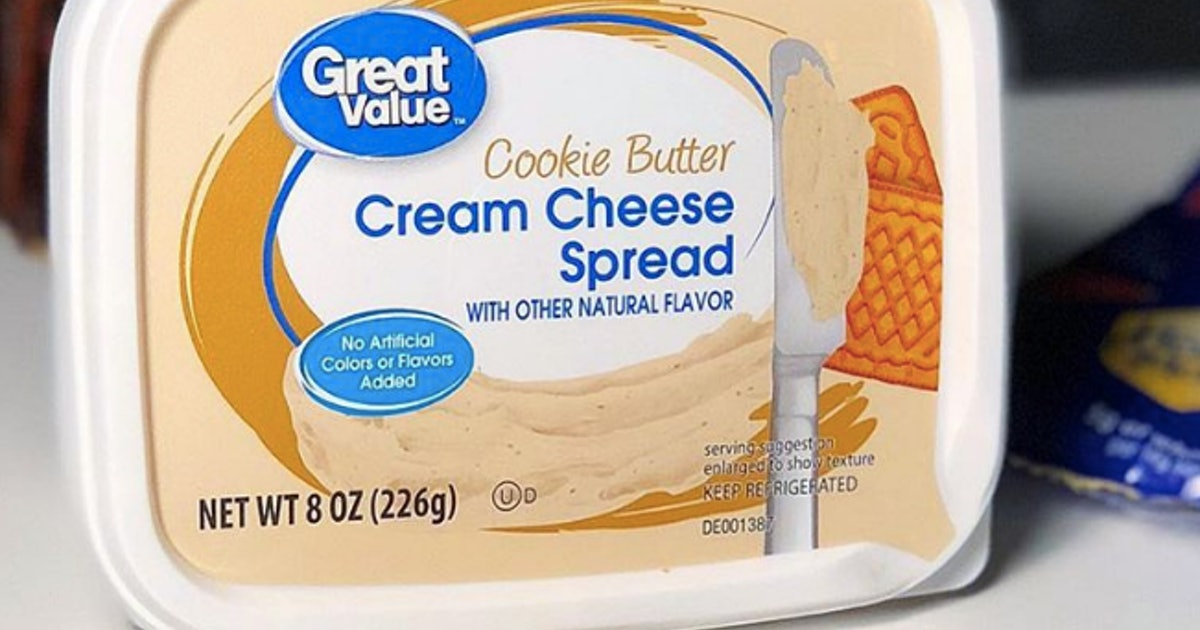 When Will Cookie Butter Cream Cheese Be Available At Walmart? Great Value Is Saving The Day