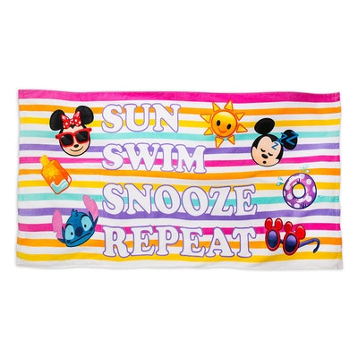 Disney Emoji Premium Beach Towel