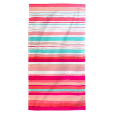 Printed Hand Drawn Stripes Beach Towel