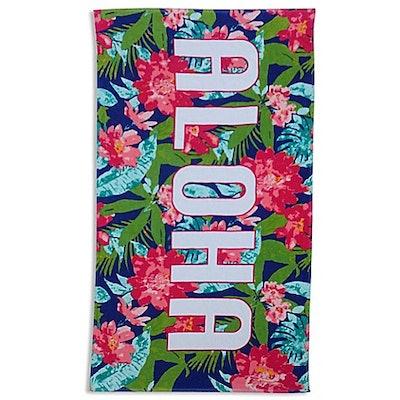 Aloha Floral Beach Towel