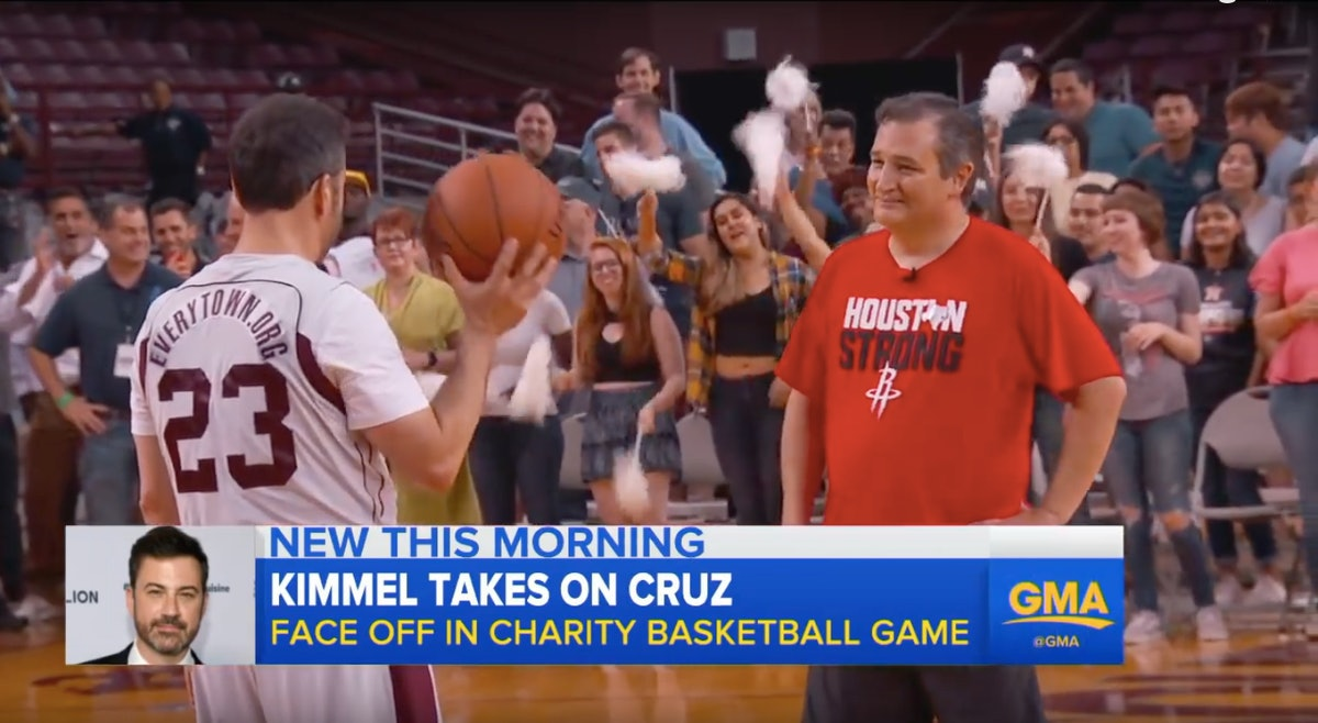 Video Of Ted Cruz & Jimmy Kimmel Playing Basketball Against Each Other Is Pure Gold