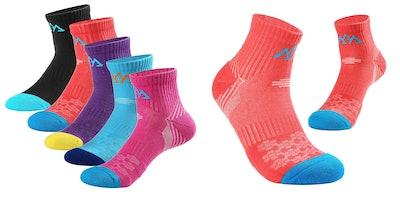 Innotree Women's Mid-Cushion Low Hiking Socks
