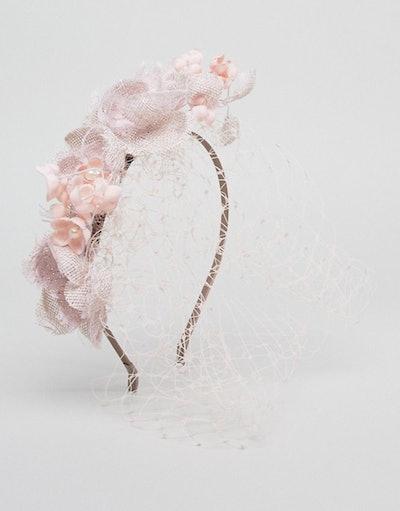 Vixen Flower Headband with Veil