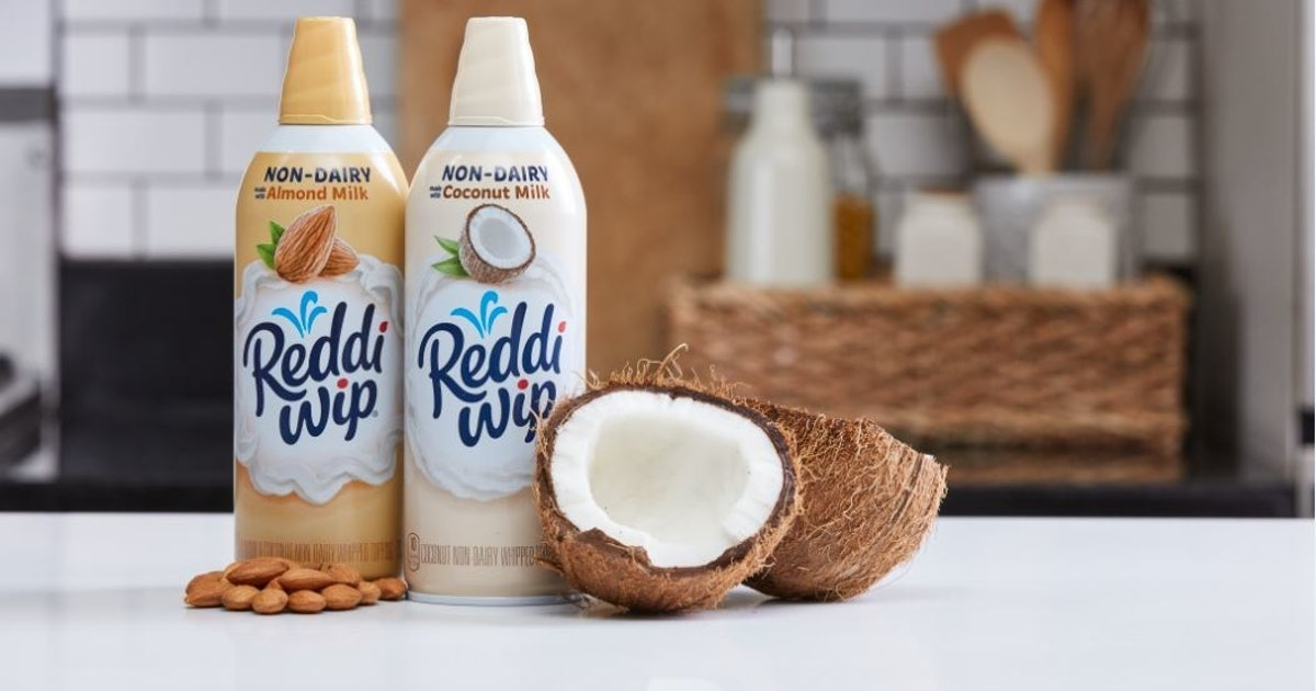 Reddi-Wip's Non-Dairy Almond & Coconut Milk Whipped Toppings Provide A Dairy...