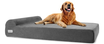 Petlo Large Orthopedic Pet Bed for Big Breed Dogs with Head Rest