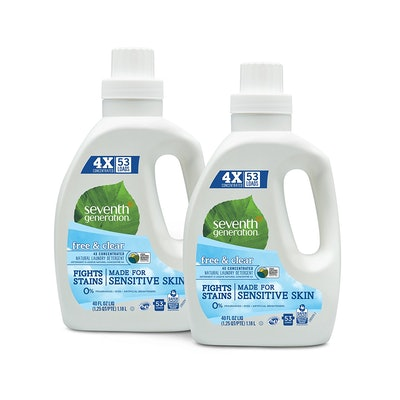 Seventh Generation Natural 4X Concentrated Laundry Detergent 2-Pack