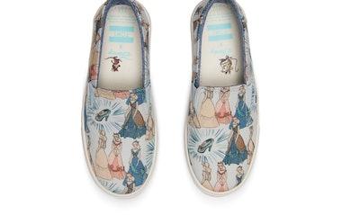 Blue Cinderella Youth Slip-Ons