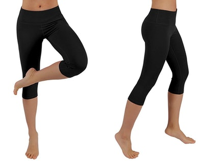 ODODOS Power Flex 4-Way Stretch Yoga Capris