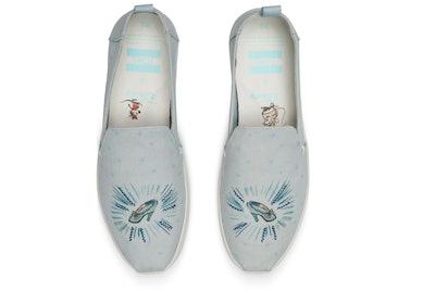 Blue Cinderella Glass Slipper Women's Deconstructed