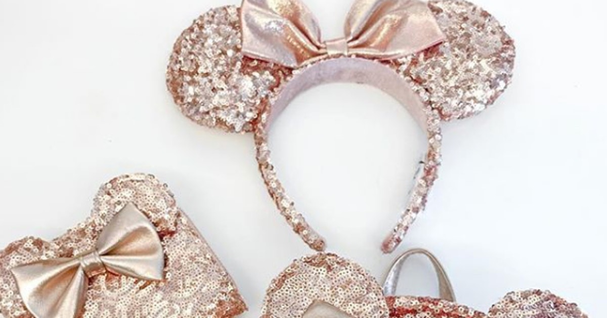 where to buy the rose gold minnie ear necklace so you can take the magic with you everywhere. Black Bedroom Furniture Sets. Home Design Ideas