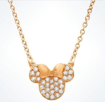 Rose Gold Minnie Mouse Necklace