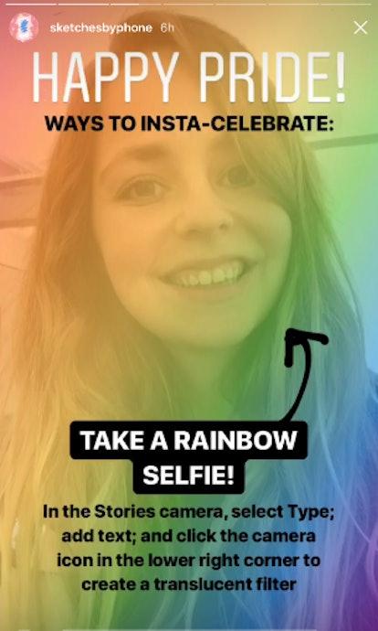 Instagram rainbow selfie