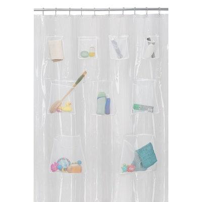 Maytex Mesh Pockets Shower Curtain