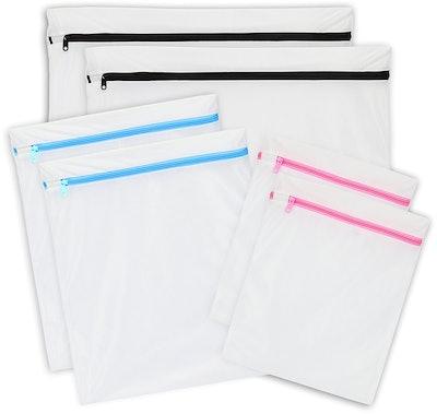 SimpleHouseware Mesh Wash Bags (set of 6)