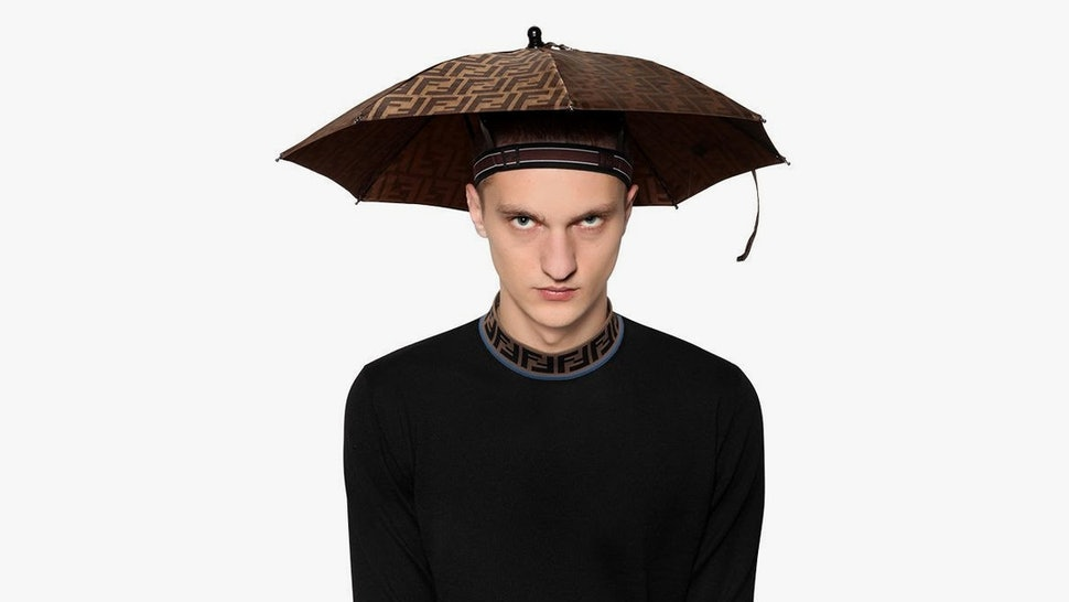 163ccd3a3 Fendi Is Selling Umbrella Hats & They Just Might Be The Next Fanny Packs