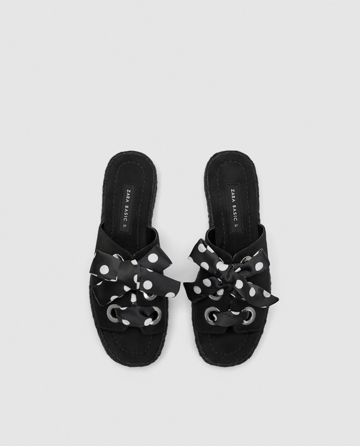 Espadrilles With Polka Dot Laces