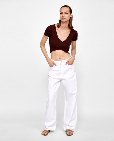 Ribbed Wrap Top