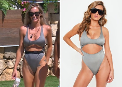 Grey Extreme Cut-Out Swimsuit