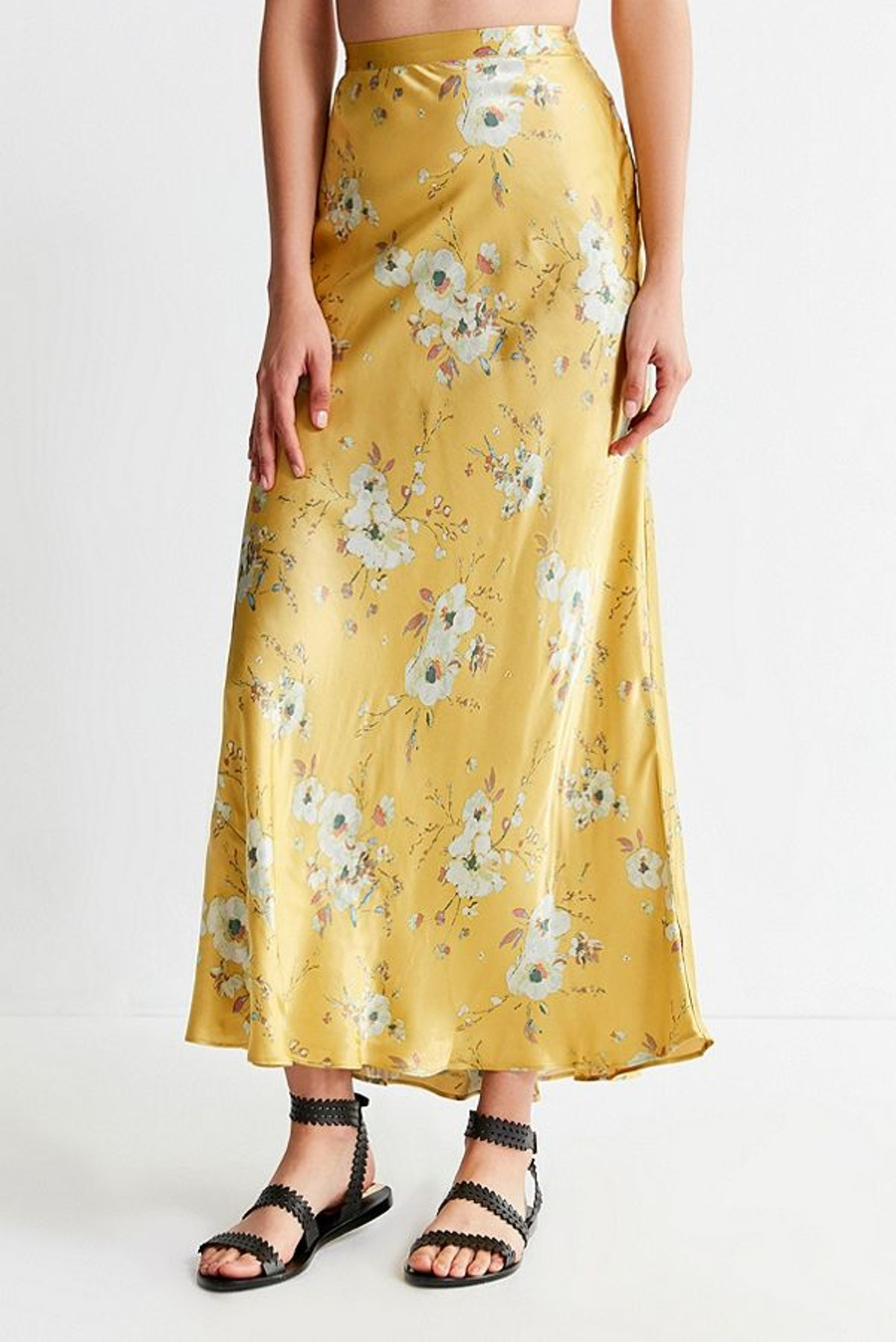 UO Mia Maxi Slip Skirt
