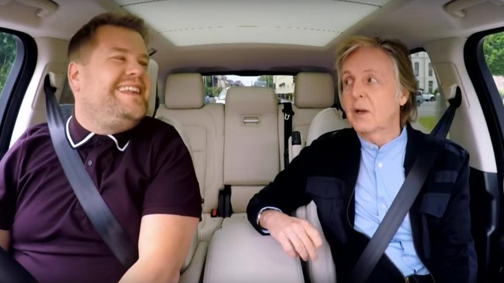 Paul Mccartney S Carpool Karaoke Includes Iconic Beatles Songs
