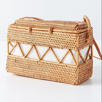 Straw Structured Cross Body Bag