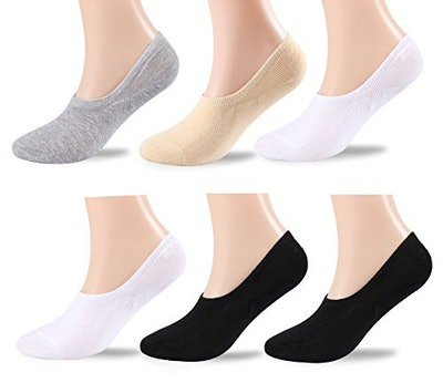 HLTPRO No Show Socks For Women (Pack Of 6)