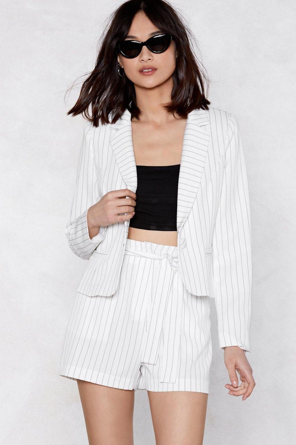 Fall in Line Blazer & Shorts