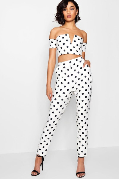 Spot Bar V Top And Trouser Co-Ord