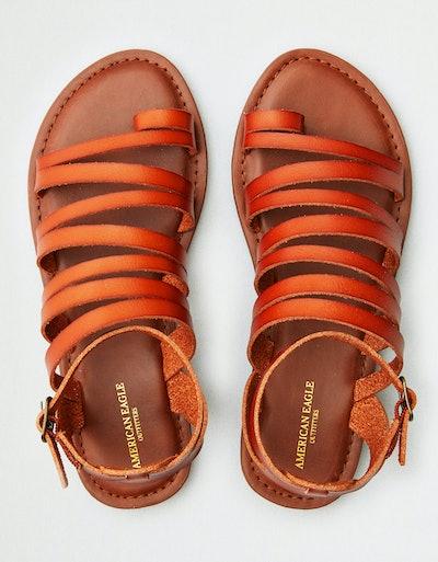 AEO Toe Ring Ankle Wrap Sandal